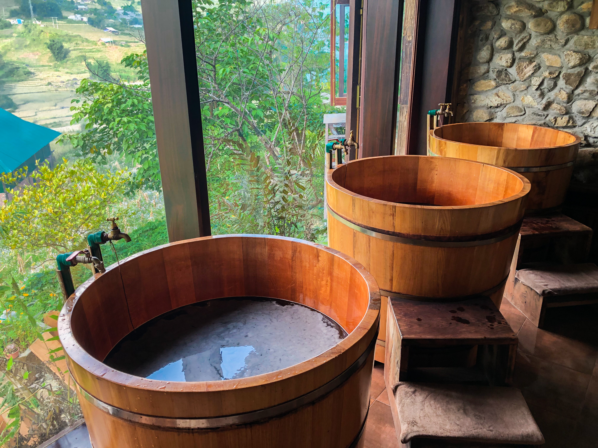 herbal bath in Dao Spa
